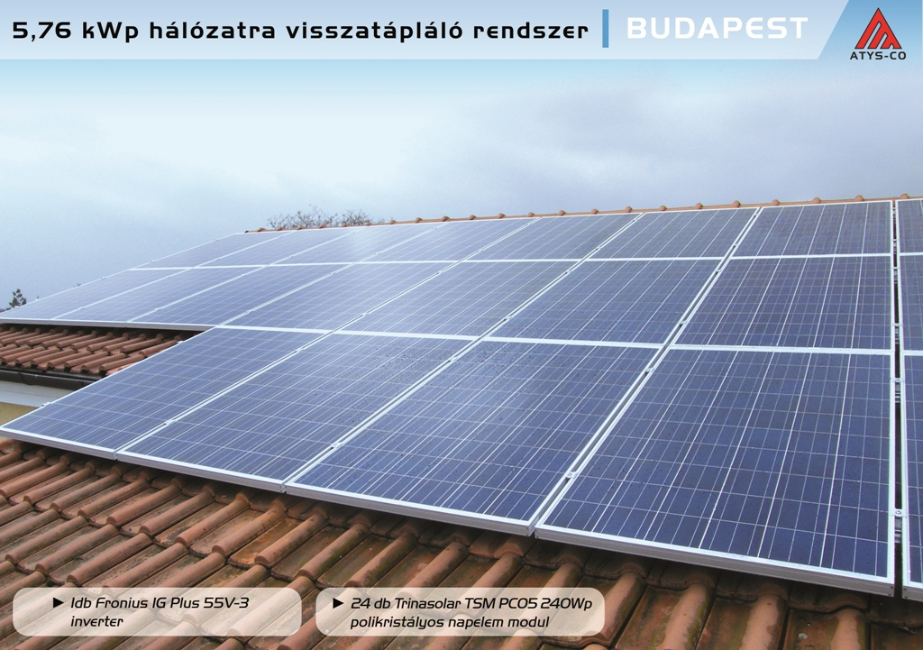 Napelem rendszer Budapest