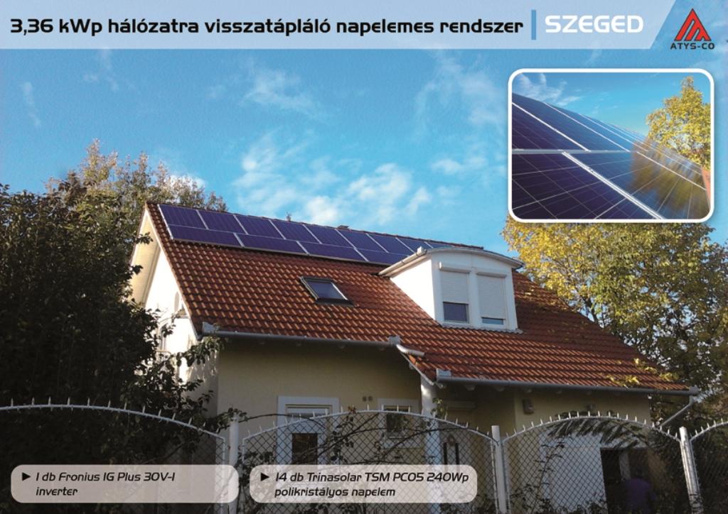 Napelem rendszer Szeged